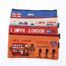 1 Cartoon Etui Meisje Jongen School Papier Student Kawai Tas London Oxford Cosmetische Handtas(China)