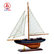 LUCKK America Style Miniature Boat Wooden Sailboat Model 33*34*6cm Home Decoration Gift for Children and Adult luckk 80cm diy danmark assembling building kits wooden model ships exquisite home interior decoration crafts sailboat toys gift