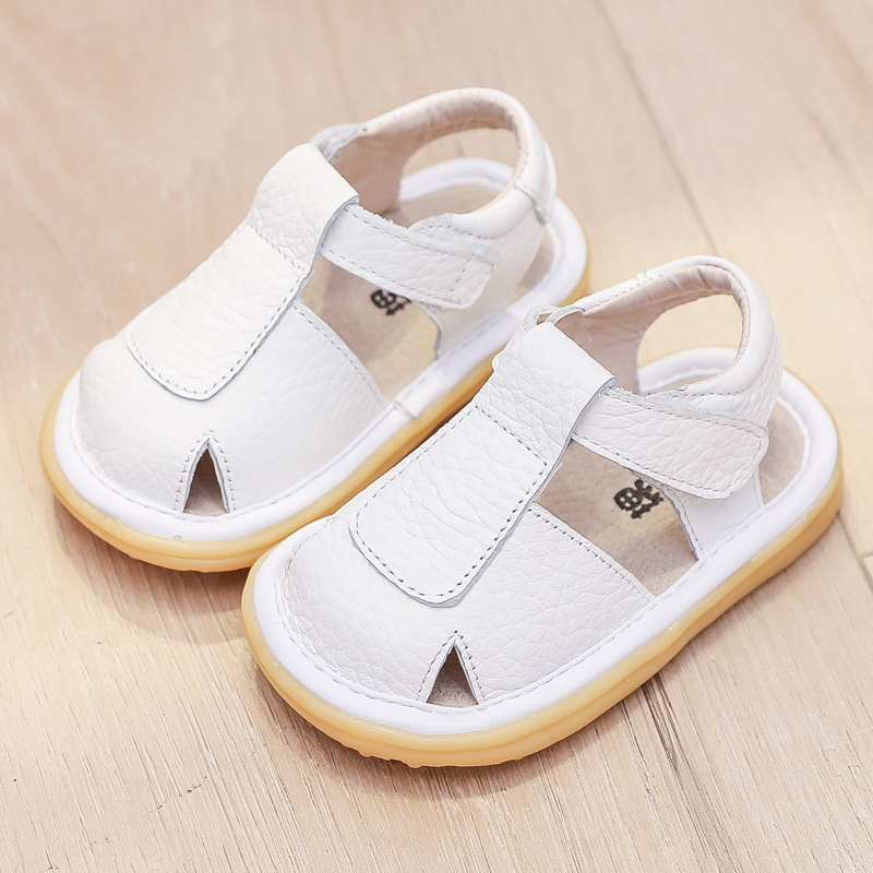 Children's Shoes Baotou Leather Baby Toddler Shoes Sandals Soft Bottom Princess Boys And Girls Infants Summer Children's Shoes