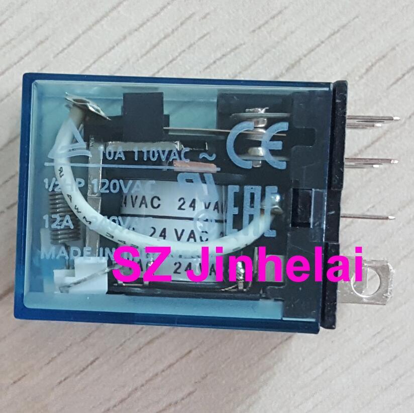 Omron LY2N 24VDC Relay 8 Pin 12A 240VAC 10A 240VAC