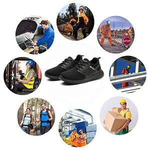 Image 5 - Защитные рабочие ботинки MWSC для мужчин, рабочие ботинки со стальным носком, неразрушаемые защитные ботинки, мужские защитные кроссовки