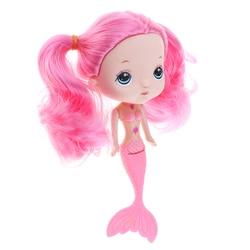 17 см 7 дюймов Очаровательная плавающая кукла принцесса-Русалка с розовым хвостом для детей, игрушки для ванной, детские подарки