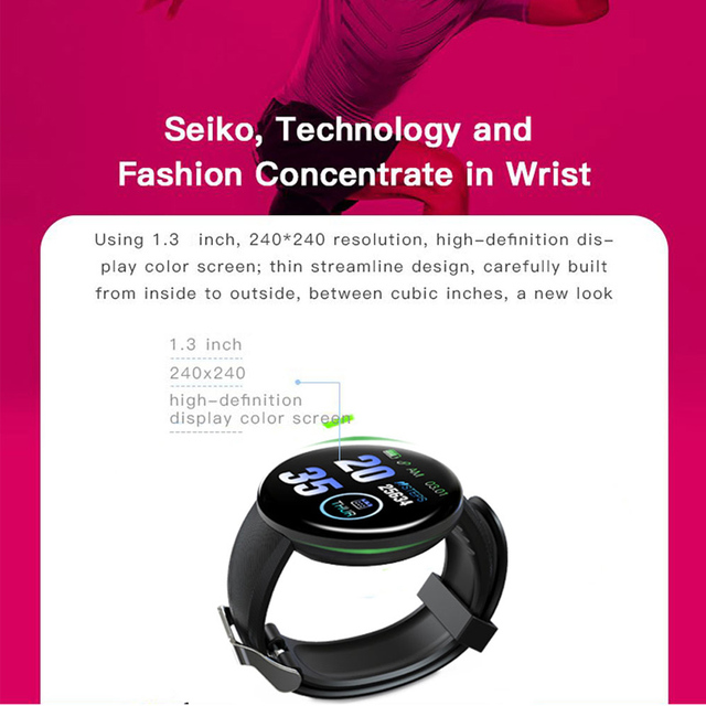 2019 Bluetooth Smart Watch Men Blood Pressure Round Smartwatch Women Watch Waterproof Sport Tracker WhatsApp For Android Ios 4