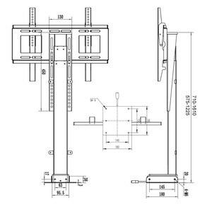 Image 2 - Uchwyt do telewizora regulacja wysokości mocowanie telewizora podnoszenie elektryczne wsparcie dla telewizora odpowiedni do 32 ~ 70 calowy zmotoryzowany pionowy stojak LIFT