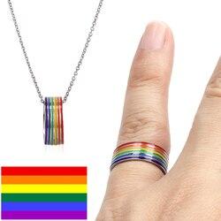 Кольцо из нержавеющей стали для ЛГБТ пары, ювелирное изделие унисекс, в стиле унисекс, для гомосексуалистов