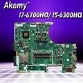 Материнская плата для ноутбука ASUS N752VX N752V N752VW I7-6700HQ/ I5-6300HQ