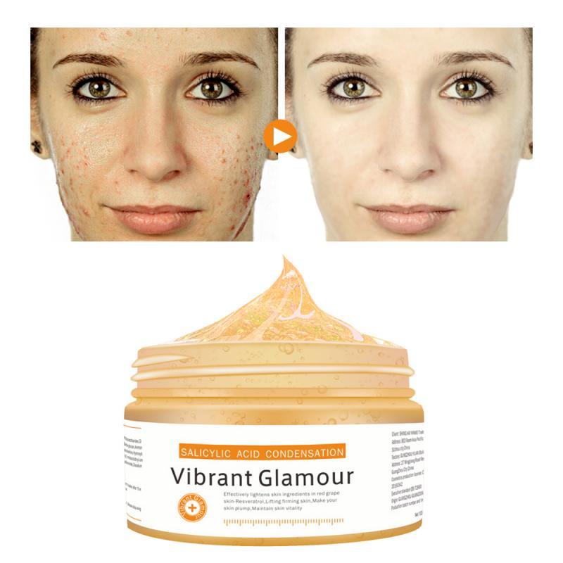 100g Blackhead Acne Removal Exfoliating Cream VG Salicylic Acid Dew Mask Shrink Pores Face Skin Care Gel Cleaning Pore TSLM1