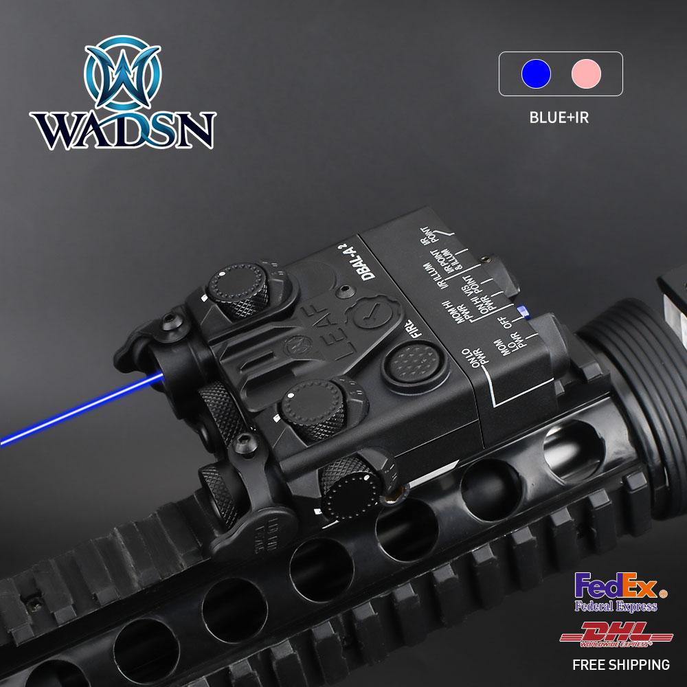 WADSN DBAL-A2 Blue IR Aiming Laser Hunting Strobe Light WD06003 Black