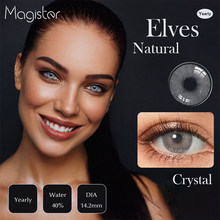 1 par de lentes de contato da cor para os olhos lentes azuis cinza cosméticos cristal marrom mirage lentes de contato coloridas naturais para a cor dos olhos