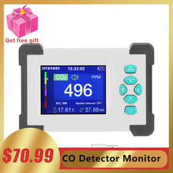 Detector de co2 testador medidor de dióxido de carbono qualidade do ar detector a laser pm2.5 pm10 pm1.0 detectores monitor de qualidade do ar bafômetro
