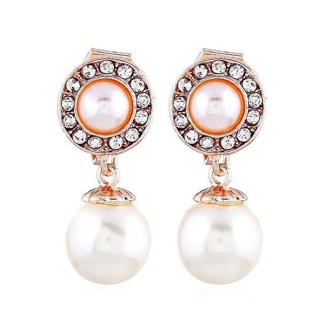 Nouveau Style coréen boucles doreilles mode belle perle boucles doreilles boucles doreilles sans trous doreille perle boucles doreilles activités de fête femme mâle