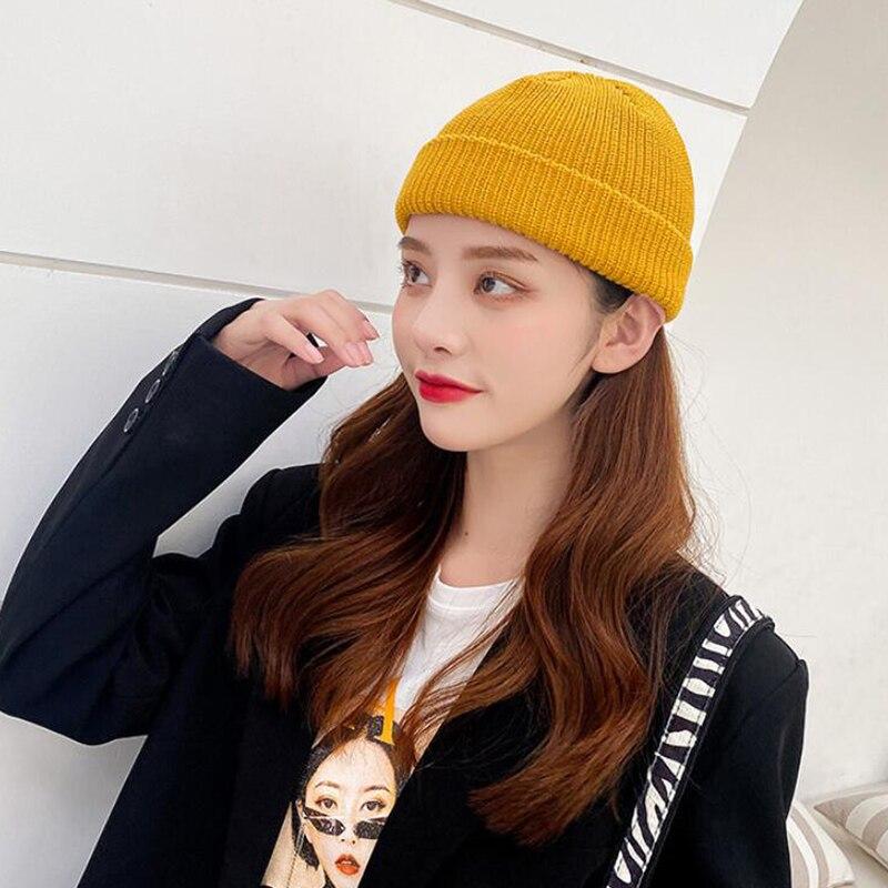 DYLAOPAN New Winter Women Rabbit Fur Knitted Hats Casual Solid Color Autumn girls Winter Hat Female Bonnet Caps Boina Feminino