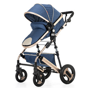 Image 5 - High view stroller light folding ultralight can sit and lie portable baby cart simple umbrella car