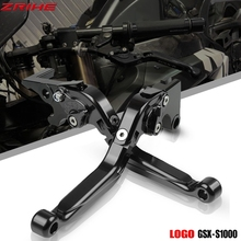 GSX S1000 F GSXS1000 ABS Motorcycle Accessories CNC Brake Cutch Levers Adjustable For SUZUKI GSX-S1000/F/ABS 2015-2019 With logo