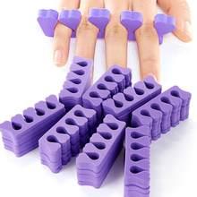 Monja 50/100 шт УФ гель лак для ногтей искусство разделители для пальцев Ноги Пальцы разные цвета мягкая губка УФ Гель-лак Красота для маникюра и ...