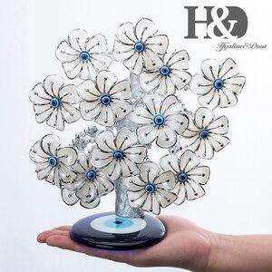 Image 4 - H & D Древо фэн шуй, цветы от сглаза для защиты, удачи и удачи, рождественский подарок, Декор для дома из смолы