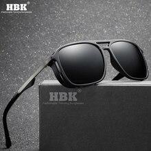 HBK New Retro Men Polarized Sunglasses Women Fashion Punk Side Shield