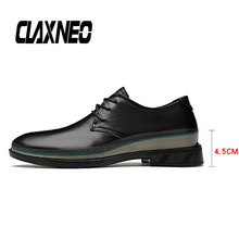 Buy CLAXNEO Man Shoes Height Increased Male Leather Dress Shoes Genuine Leather Mens Derby Footwear Wedding Shoe directly from merchant!