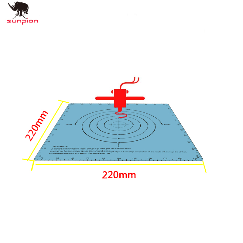 3D Printer Parts Blue Magnetic Print Bed Tape 220*220MM Heatbed Sticker Hot Bed Plate Sticker Build Plate Tape Flex Plate Hotbed