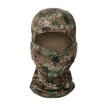 Tactical Camouflage Full Face Mask CS Game Army Hunting Riding Sports Helmet Lining Cap Outdoor Military Warm Hood 6