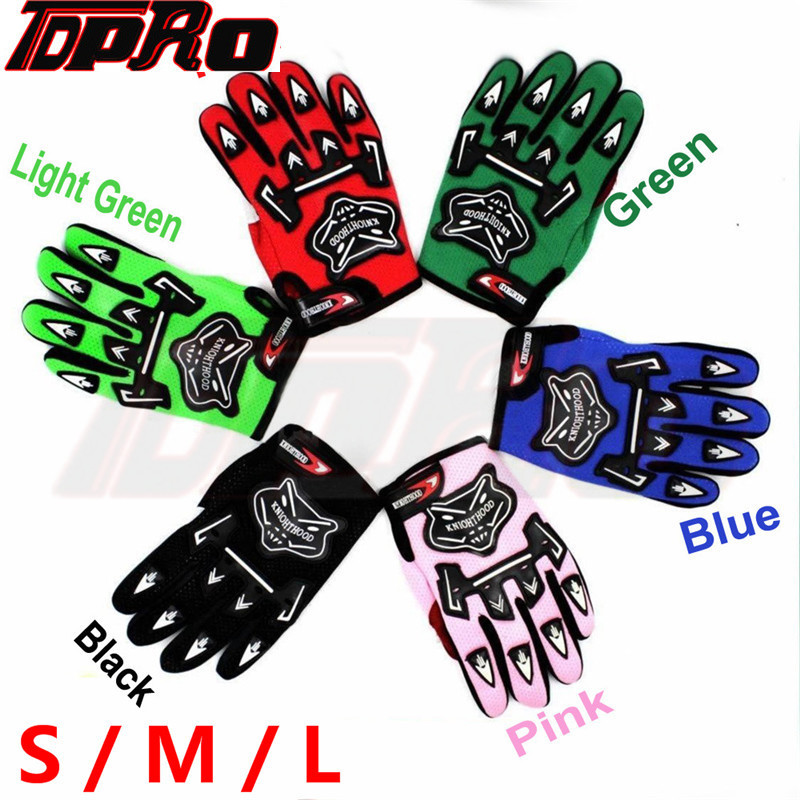 TDPRO For Young Children Boys Kids Motorcycle Gloves Nylon Five Colors Full Finger Professional Motocross Protective Gear Glove