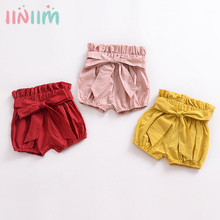 Cotton Bloomers Shorts Pants Nappy Diaper-Cover Toddler Baby-Girl Summer Bow Bandage
