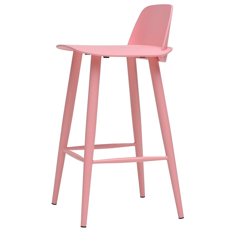Nordic Bar Chair Modern Bar Chair Simple High Stool Backrest High Chair Home Bar Stool Bar Chair