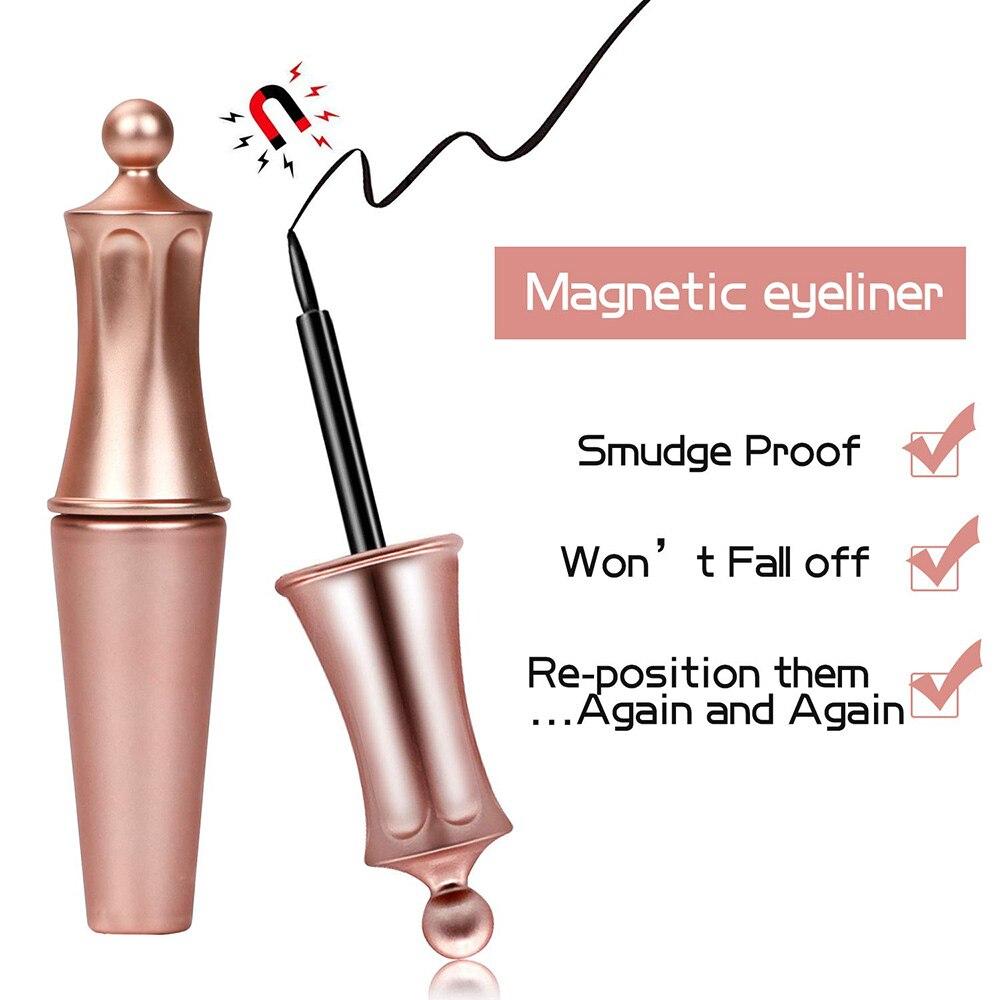 Image 5 - OSHIONER Magnetic False Eyelashes Set Waterproof Long Lasting Magnetic Liquid Eyeliner and Magnet Eyelash Set with Tweezers-in False Eyelashes from Beauty & Health