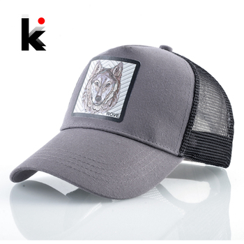 Fashion Baseball Cap With Wolf Patch Outdoor Breathable Mesh Visor Caps Men Snapback Hip Hop Baseball Hat For Women Visor Hats 1