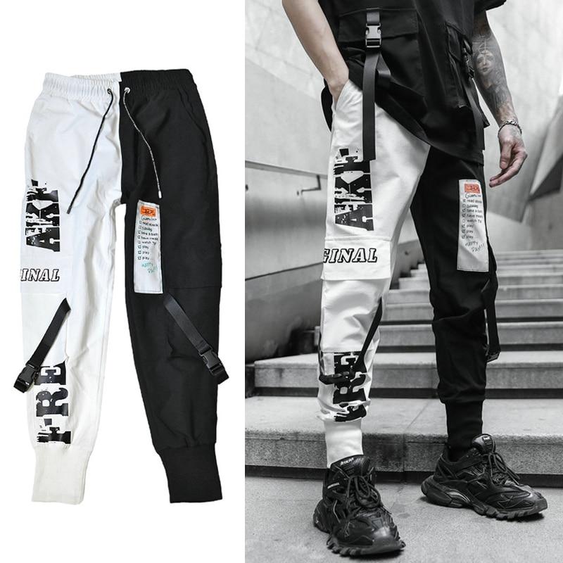Streetwear Harem Joggers Men 2020 New Hip Hop Ribbons Casual Mens Pants Ankle-length Slim Men Trousers