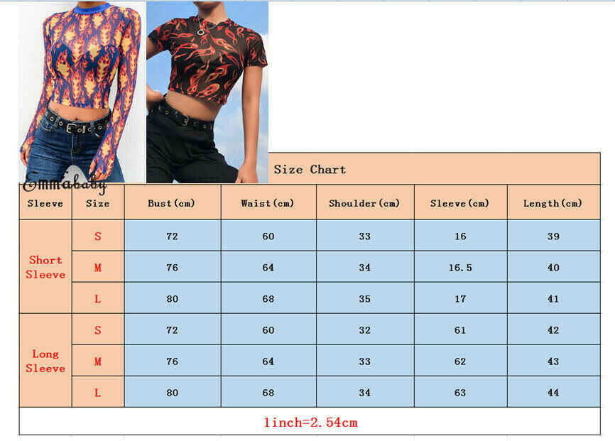 Women Sexy Mesh Sheer Slim Print Transparent Top Female Casual Summer Stylish 2 Styles Party Club Fire Tops Tee Outwears