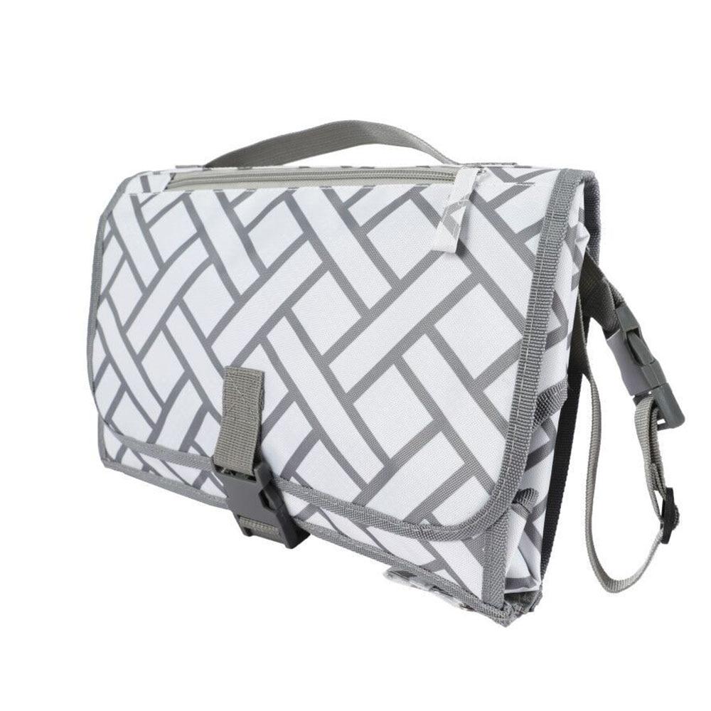 Новые 3 в 1 Водонепроницаемый пеленальный коврик пеленки мнчества, Портативный чехол для детских подгузников коврик чистой ручной складной сумка из узорчатой ткани - Цвет: 82