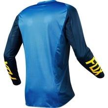 Настраиваемая летняя велосипедная одежда Fox TLD, одежда для езды на горном велосипеде, Мужская гоночная одежда, мотоциклетный костюм с длинным рукавом che fu
