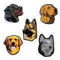 Нашивка с вышивкой в виде собаки золотистого ретривера из Аляски, маламута, немецкой овчарки, термоклейкая Подложка для шляпы, сумки, одежды