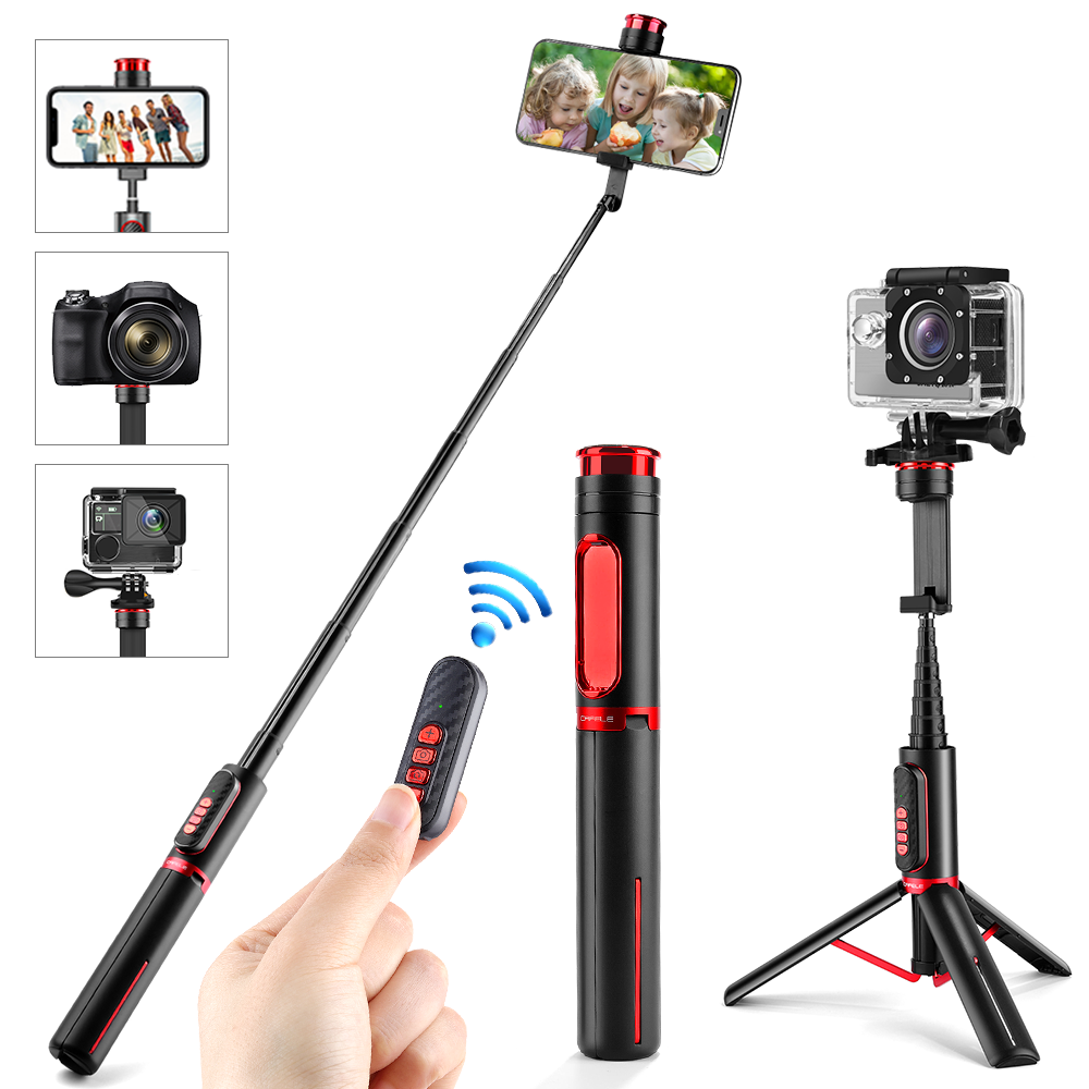 Cafele 3 in 1 Drahtlose Bluetooth Selfie Stick Faltbare Mini Stativ mit Fernbedienung Für iPhone IOS Android Action Kamera