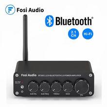 2020 mais novo fosi bt30d áudio amplificador de potência som bluetooth 2.1 canais baixo & controle agudos amp áudio subwoofer 100w + 50 x2