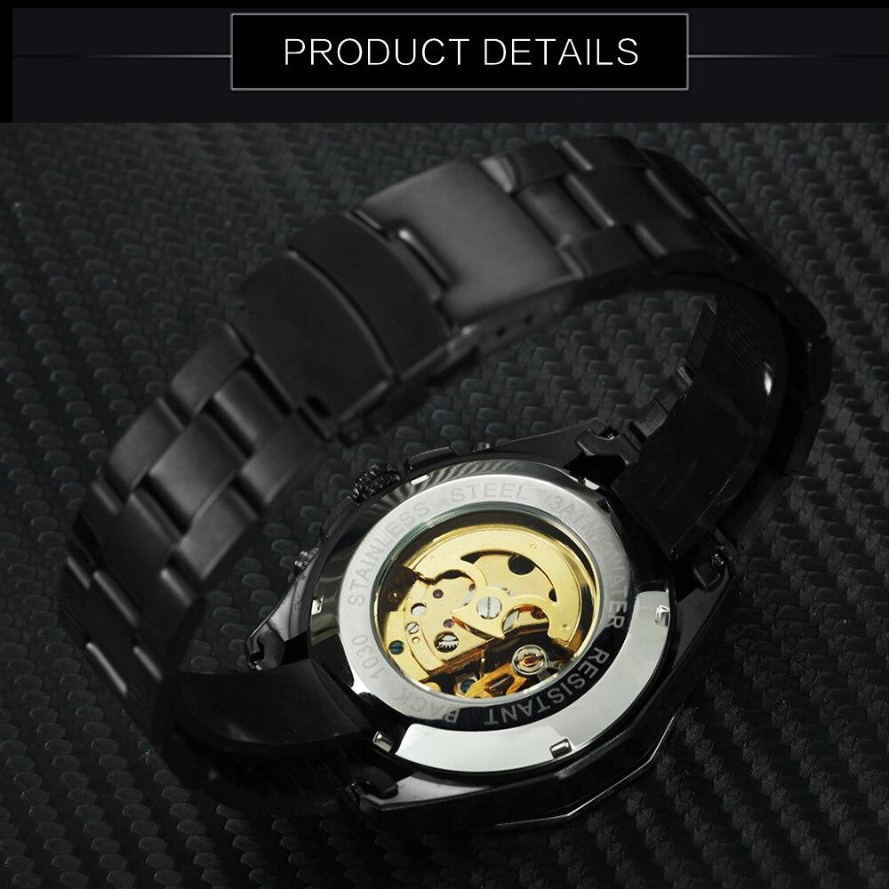 Forsining ouro marca de topo luxo automático