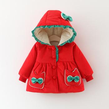 Dziewczynek płaszcze 2020 jesienne zimowe kurtki dla dzieci dla dziewczynek na zewnątrz ciepła odzież wierzchnia dla dzieci odzież na śnieg odzież dla niemowląt odzież dla niemowląt tanie i dobre opinie msnynieco Kobiet Moda 7-12m 13-24m 25-36m Z kapturem M1051 COTTON REGULAR Pasuje prawda na wymiar weź swój normalny rozmiar