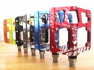 Image 3 - 2019New 超軽量と超薄型 3 ベアリングペダルアルミ合金マウンテンバイク MTB 陽極酸化自転車ペダル道路バイクペダル
