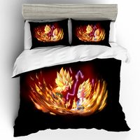 Home Textiles Bed Linen Japan Anime Dragon Ball Bedding Sets Queen King Size Bedding Set Bed Linen Luxury Ropa De Cama Sabanas