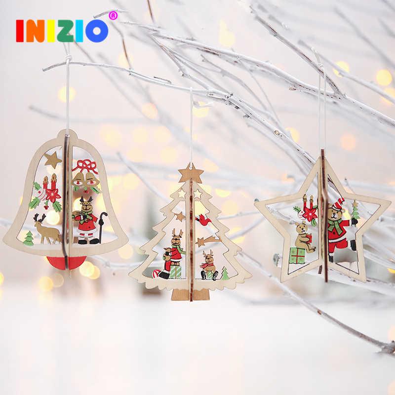 Đồ Trang Trí Cho Cây Giáng Sinh Gỗ Trang Trí Cây Thông Noel Năm Mới Quà Tặng Giáng Sinh Trang Trí Cho Gia Đình
