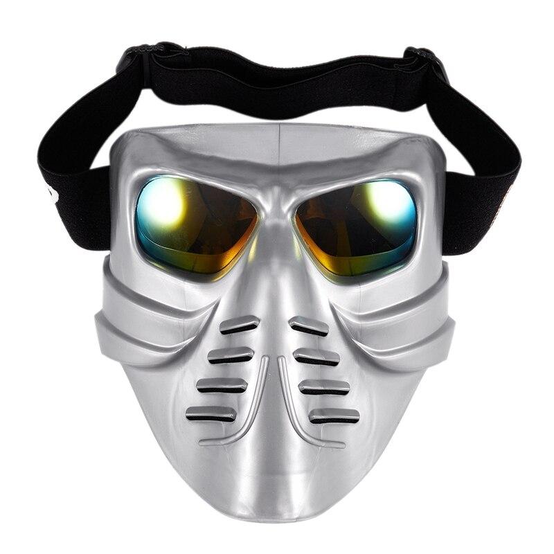 Skull Motorcycle Glasses Detachable Modular Mask Motorcycle Goggles Mouth Filter Motocross Glasses Moto Helmet Glasses