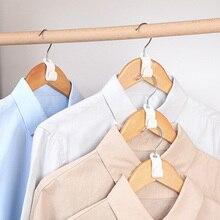 Clothing Rack Hanger Hook White Connection-Hooks Space-Saver Multi-Purpose PP 6pcs 6--2cm