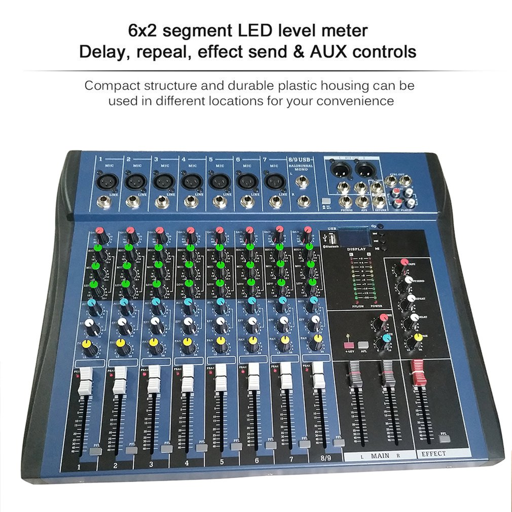 CT8 8 Kanal Professionelle Stereo Mixer Live USB Studio Audio Sound Konsole Netzwerk Anker Gerät Vocal Wirkung Prozessor - 2