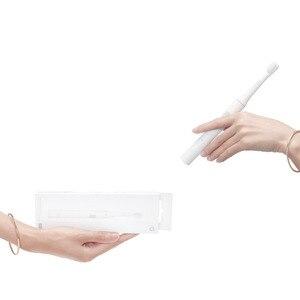 Image 5 - חדש שיאו mi Mi jia T100 Mi חכם חשמלי מברשת שיניים 46g 2 מהירות סוניק מברשת שיניים הלבנת טיפול אוראלי מברשת ראש חוט דנטלי