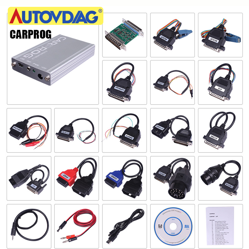 Carprog V8.21/V 10.05 Full With Software Activated  Adapters Repair Car Prog V10.93 Tool Radios Odometer Dashboards Immobilizer|Code Readers & Scan Tools|   - AliExpress