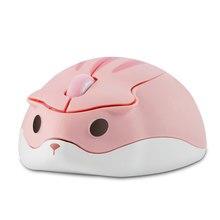 Chuyi 2.4G Draadloze Optische Muis Leuke Hamster Cartoon Ontwerp Computer Muizen Ergonomische Mini 3D Gaming Office Mouse Kid 'S gift