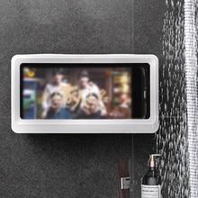Phone-Box Shower-Phone-Shelf-Case Bathroom-Racks Wall-Hanging Plastic Home Touch-Screen