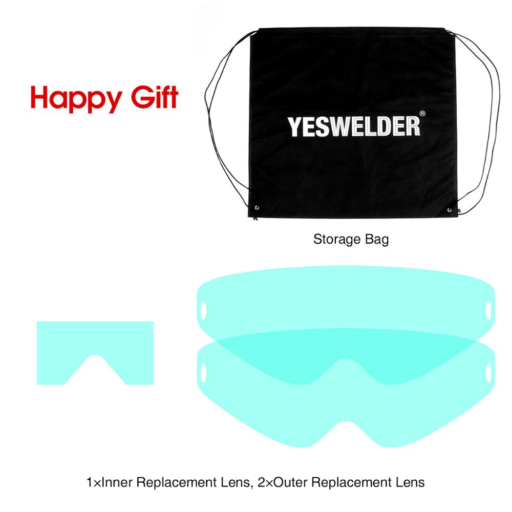 Image 3 - YESWELDER Anti Fog Up True Color Welding Helmet Solar Powered Auto Darkening Weld Mask with Side View for TIG MIG ARC LYG S400S-in Welding Helmets from Tools