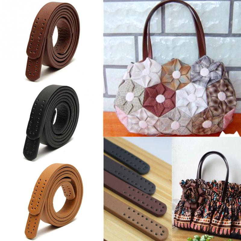 2pcs PU Leather Purse Shoulder Handbag DIY Accessories  Sewing Strap Leather Handles Bag Accessories